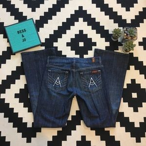 "7FAM ""A Pocket"" Dark Wash Jeans"